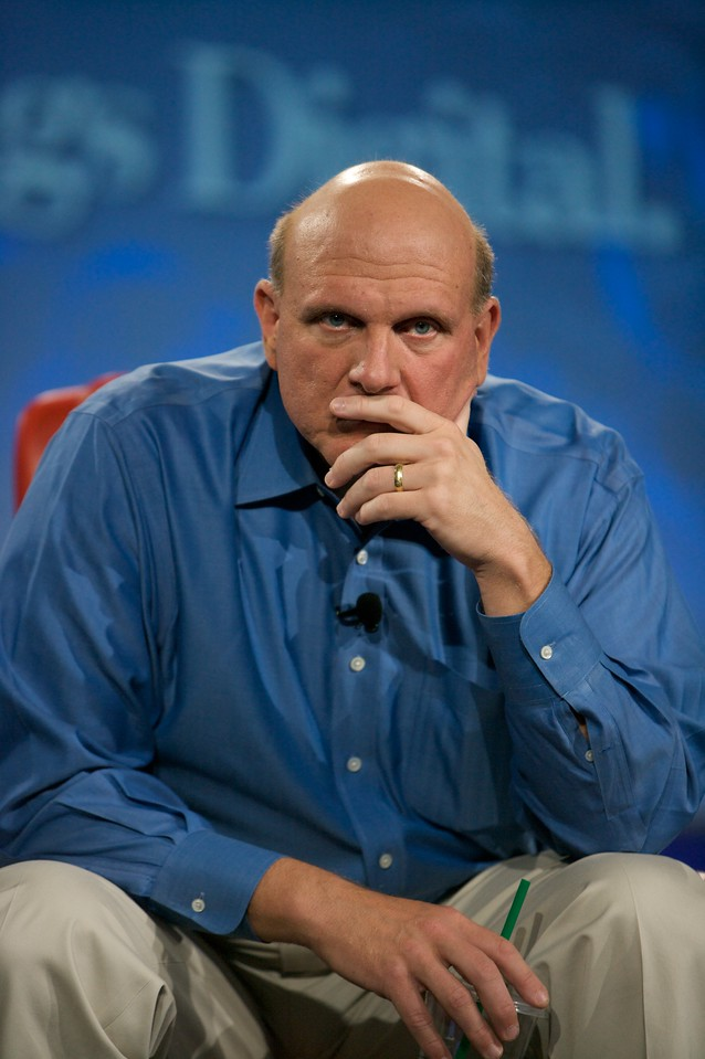 Steve Ballmer onstage at the D: All Things Digital conference in 2009.