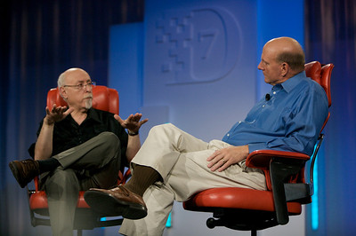 Walt Mossberg interviews Microsoft CEO Steve Ballmer at the D7 conference.