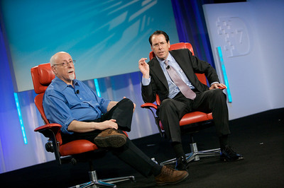 Walt Mossberg and AT&T's Randall Stephenson take questions from the audience.