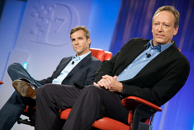 MySpace CEO Owen Van Natta with colleague Jon Miller, Chief Digital Officer of News Corp.