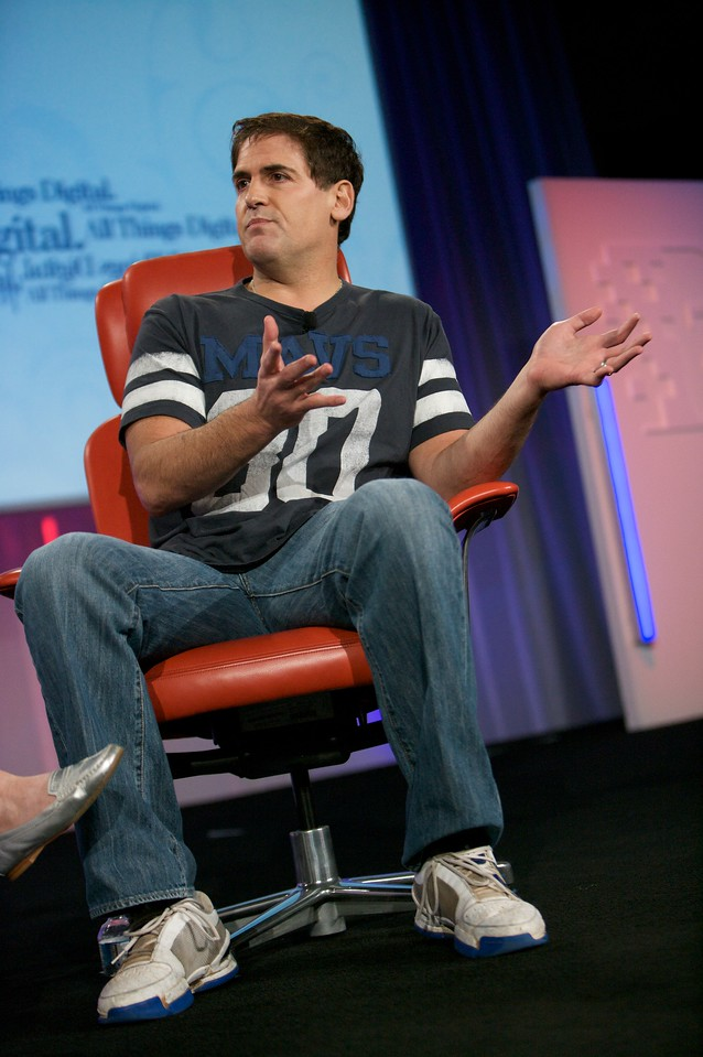 Mark Cuban, HDNet Chairman and owner of the Dallas Mavericks, onstage at D7.