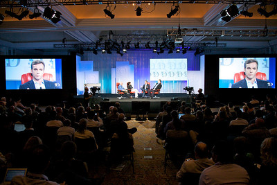 MySpace CEO Owen Van Natta onstage at D7.