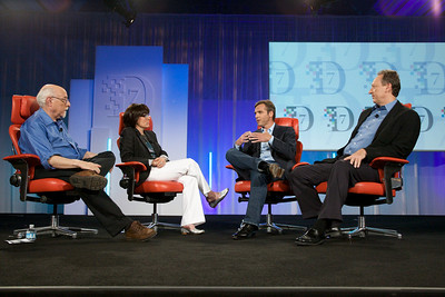 Walt Mossberg and Kara Swisher interview Owen Van Natta of MySpace and Jon Miller of News Corp. at D7.
