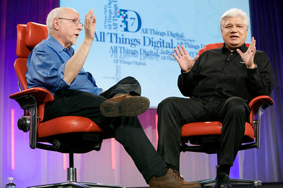 Walt Mossberg interviews RIM co-CEO Mike Lazaridis onstage at D7.