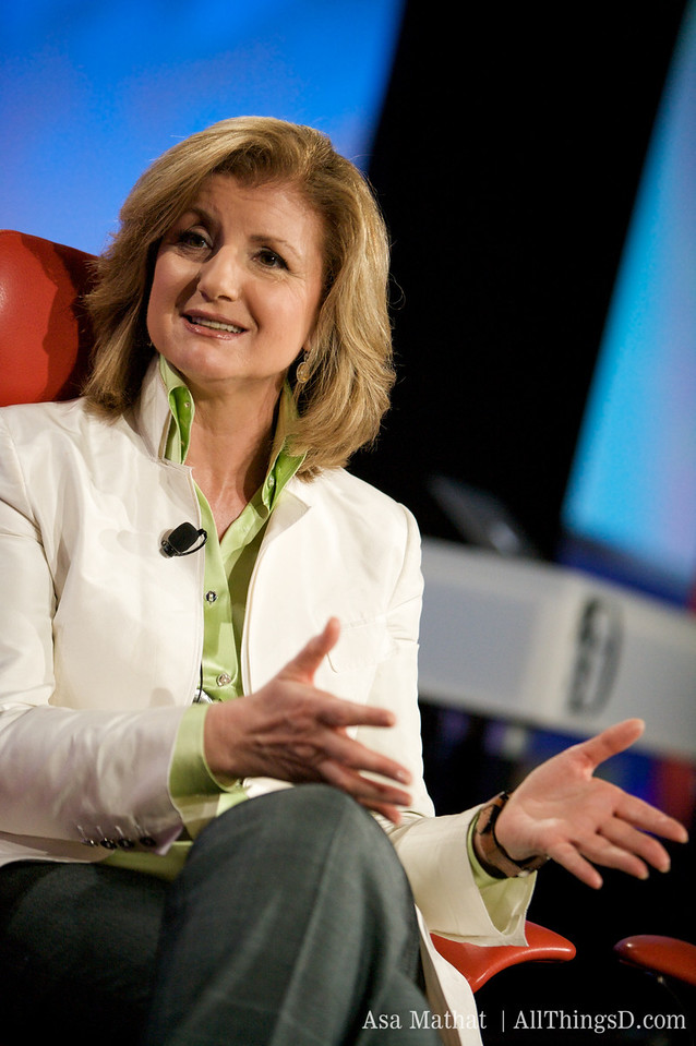 Arianna Huffington at D7.