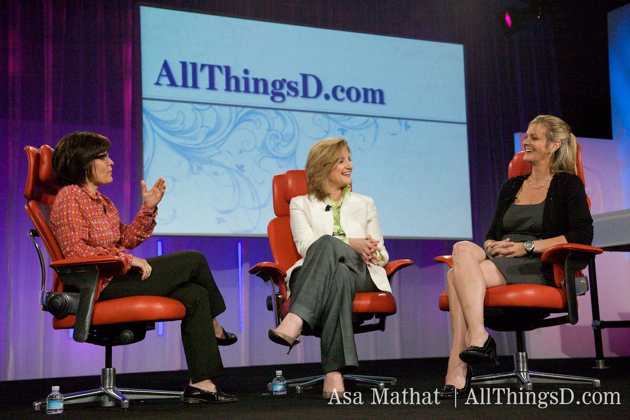 Kara Swisher interviews Arianna Huffington and Katharine Weymouth.