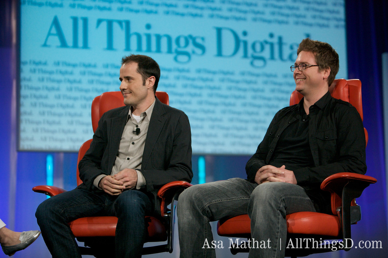 Evan Williams and Biz Stone, in the hot seats.