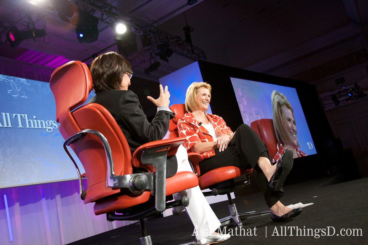 An audience favorite: Yahoo CEO Carol Bartz and her trademark blunt humor.