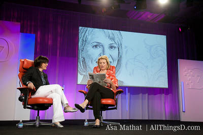 Kara Swisher and Carol Bartz, CEO of Yahoo, review the brand advertising in the Wall Street Journal.