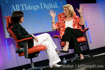 Kara Swisher and Carol Bartz, CEO of Yahoo.