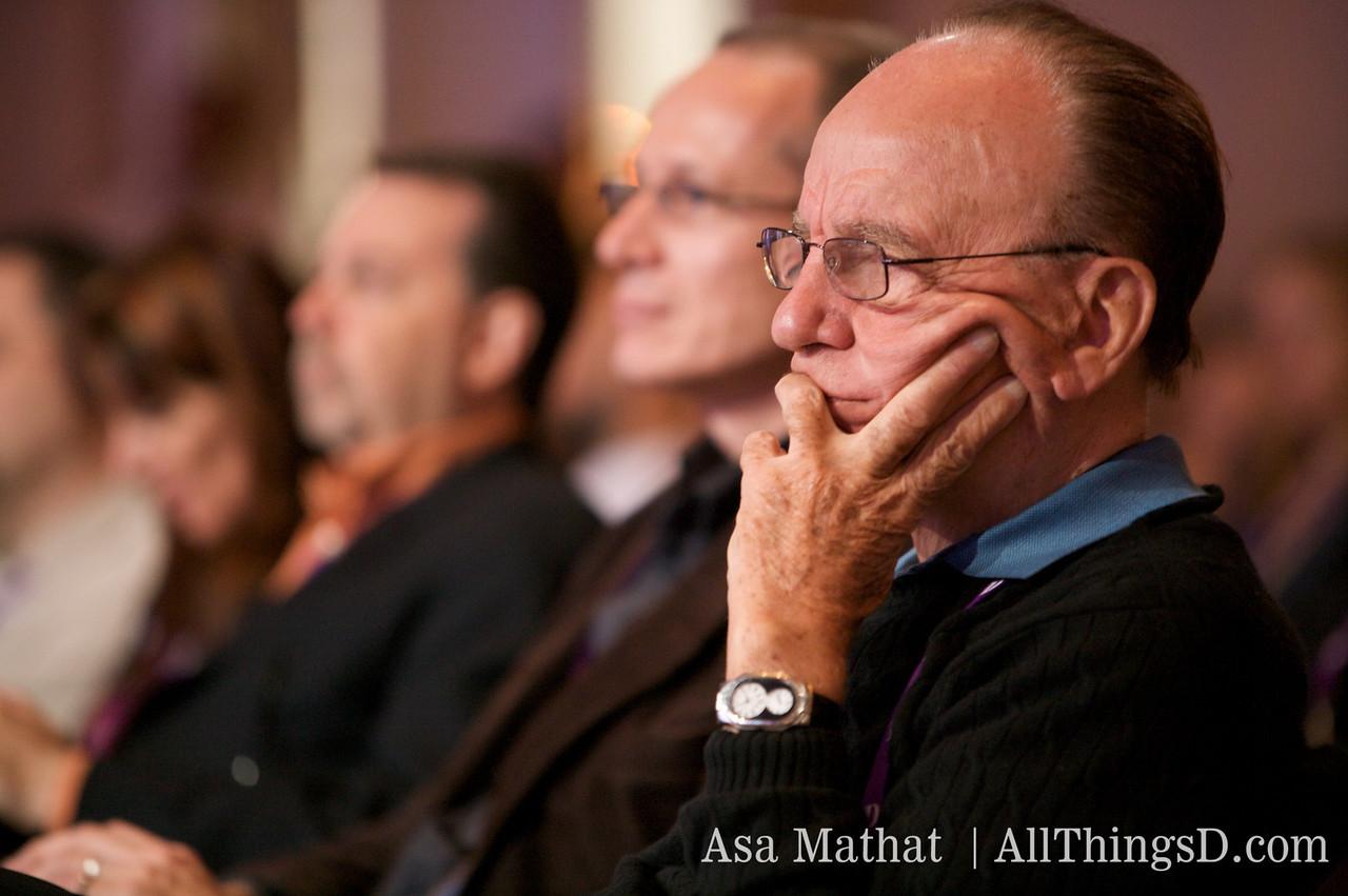 Rupert Murdoch of News Corp. attends Carol Bartz's session at D7.