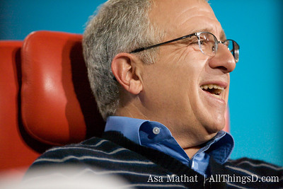 Irving Azoff, CEO of Ticketmaster laughs during his session with Kara Swisher at D7.