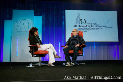 Kara Swisher and Irving Azoff of Ticketmaster.