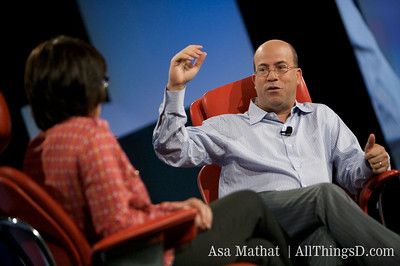 Jeff Zucker, CEO of NBC Universal, onstage with Kara Swisher at D7.