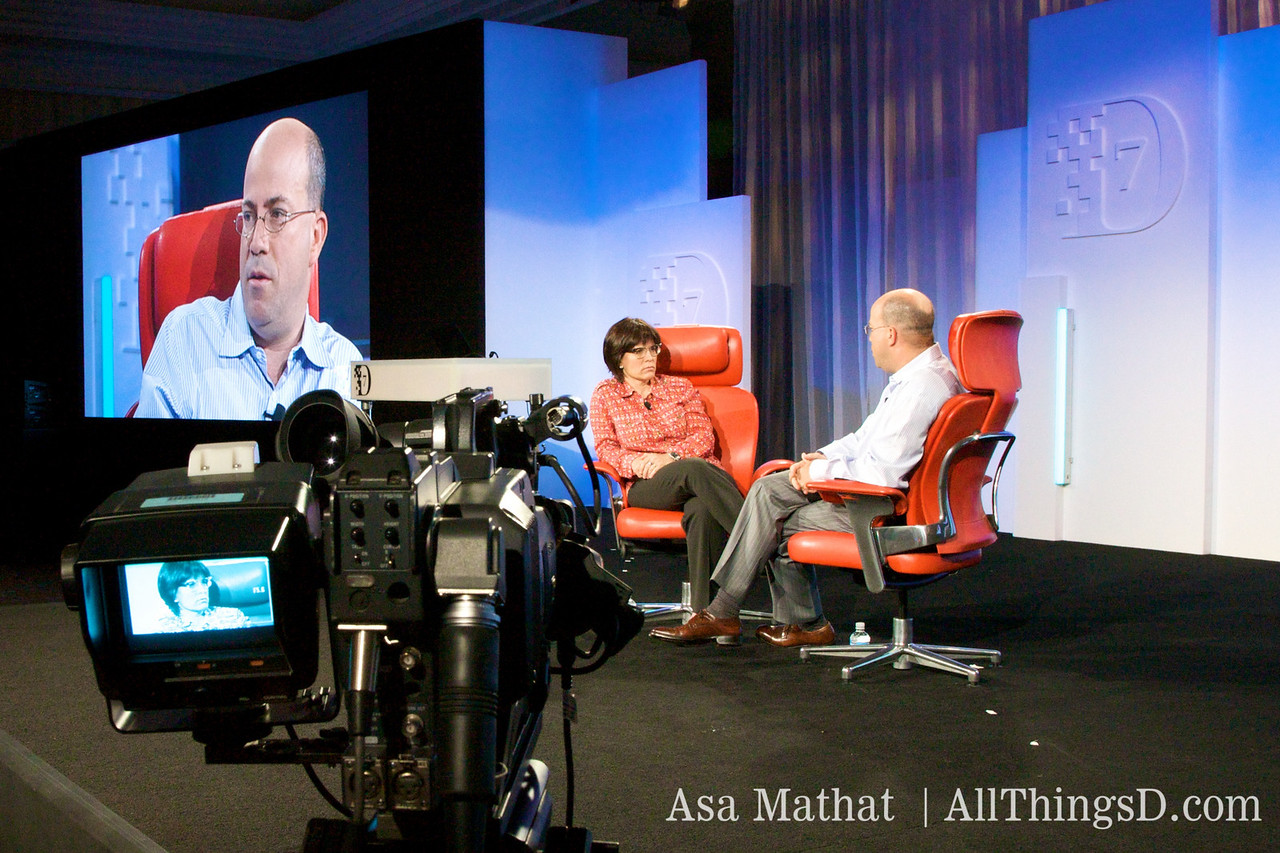 Videotaping the D7 session with Jeff Zucker.