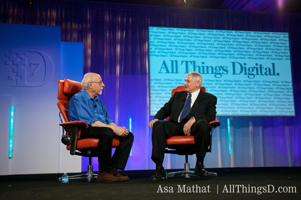Walt Mossberg and John Malone of Liberty Media at D7.