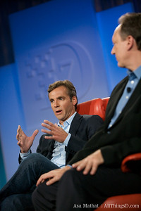 MySpace CEO Owen Van Natta with News Corp's Chief Digital Officer Jon Miller.