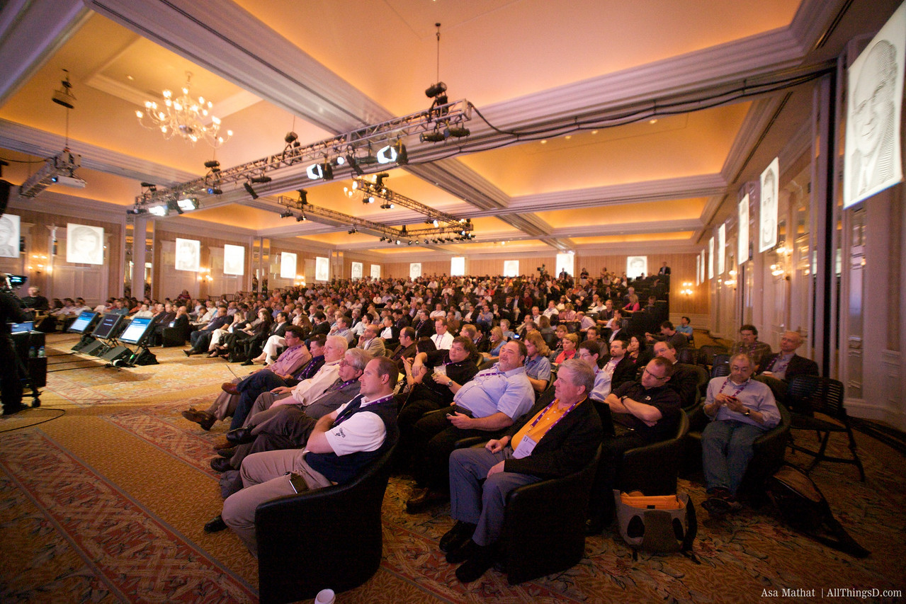 The crowd during the Mike Lazaridis session at D7.