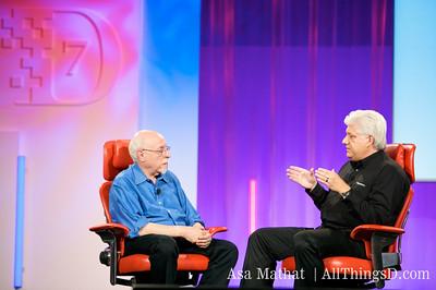 Walt and RIM CEO Mike Lazaridis.