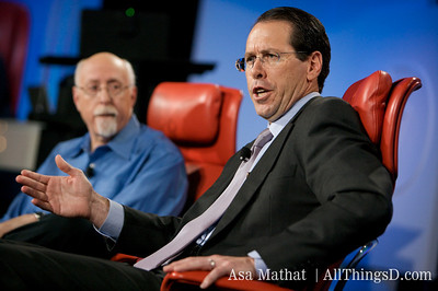 Randall Stephenson, AT&T answers a question from the crowd.