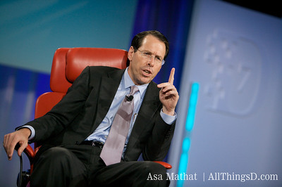 AT&T's Randall Stephenson makes a point during his presentation.