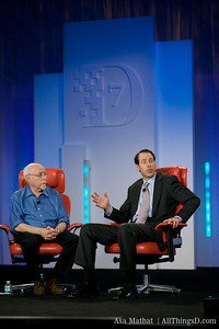 Walt Mossberg and Randall Stephenson, CEO of AT&T.