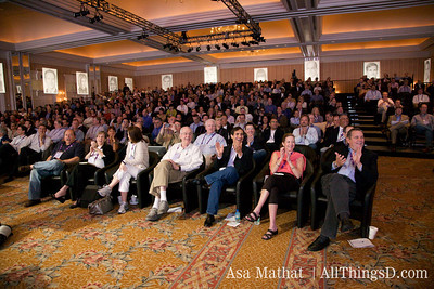 Crowd shot during the Steve Ballmer talk at D7.