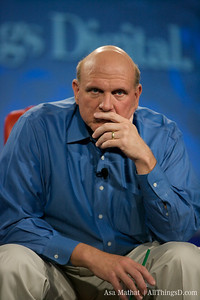 Microsoft CEO Steve Ballmer listens intently to a question from the audience.