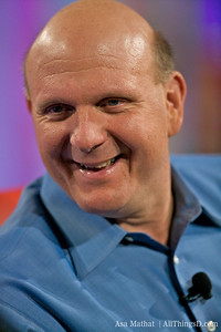 Steve Ballmer laughs during his presentation at D7.