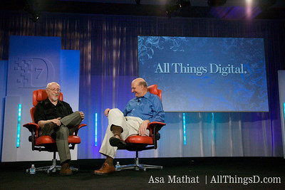 Walt Mossberg and Microsoft CEO Steve Ballmer.