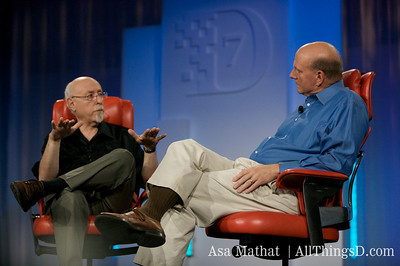 Walt interviews Steve Ballmer on-stage at D7.