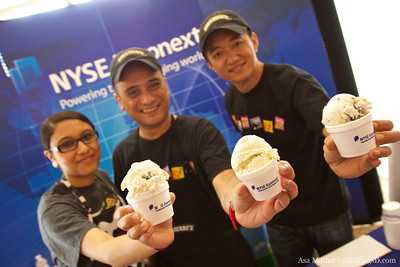 Much-needed ice cream break, sponsored by NYSE Euronext.