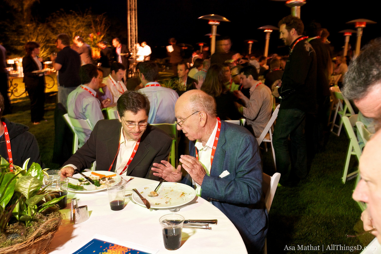 FCC Chairman Julius Genachowski and News Corp. chairman and CEO Rupert Murdoch at the opening dinner.