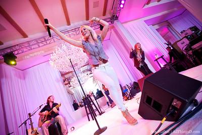 Natasha Bedingfield performs at opening night reception, sponsored by AOL.