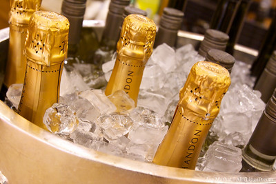 Chilled champagne.