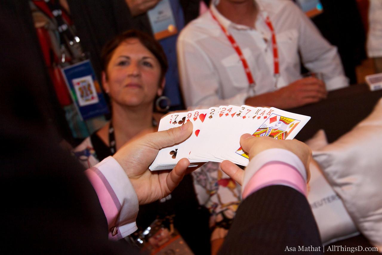 Pick a card, Lia, any card.