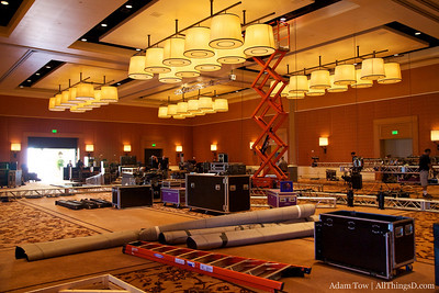 The D8 ballroom slowly takes shape at the Terranea.