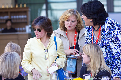 Kara Swisher with D8 attendees including Hilary Rosen, former chair of the Recording Industry Association of America (RIAA).