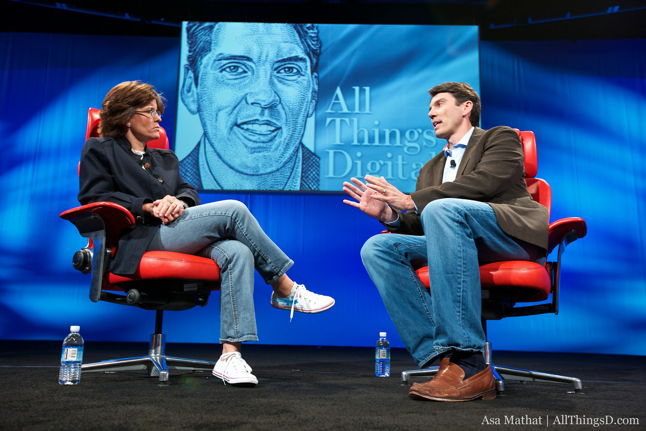 """AOL CEO Tim Armstrong, interviewed by Kara Swisher, author of """"There Must Be a Pony in Here Somewhere: The AOL Time Warner Debacle..."""""""