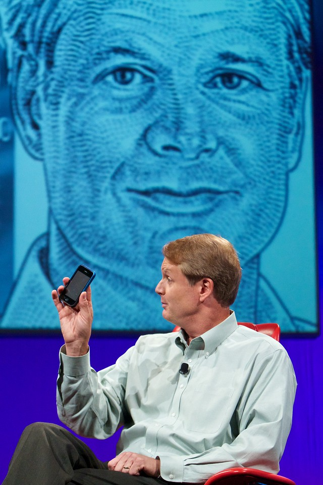 John Donahoe, president and CEO of eBay, onstage at the D8 conference.