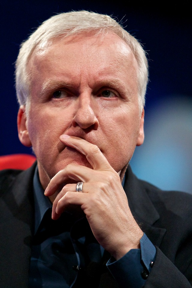 Director, producer and writer James Cameron at D8.