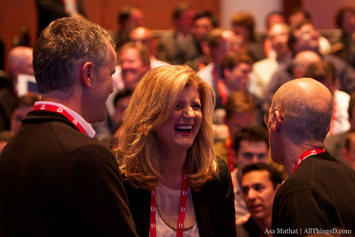 Arianna Huffington, founder of The Huffington Post, catches up with D8 attendees on opening night.