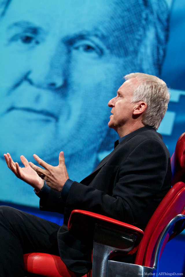 James Cameron at D8 with Kara Swisher and Walt Mossberg.