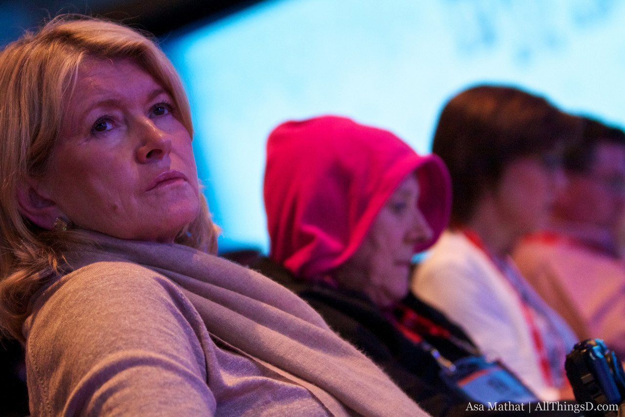 Martha Stewart listens during John Donahoe's session at D8.