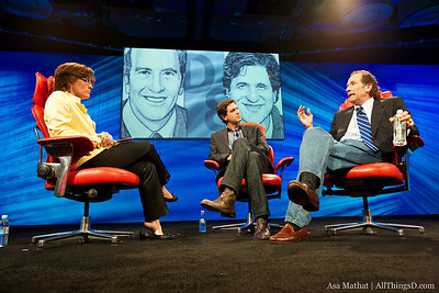 Steve Levitan and Lloyd Braun with Kara Swisher at D8.