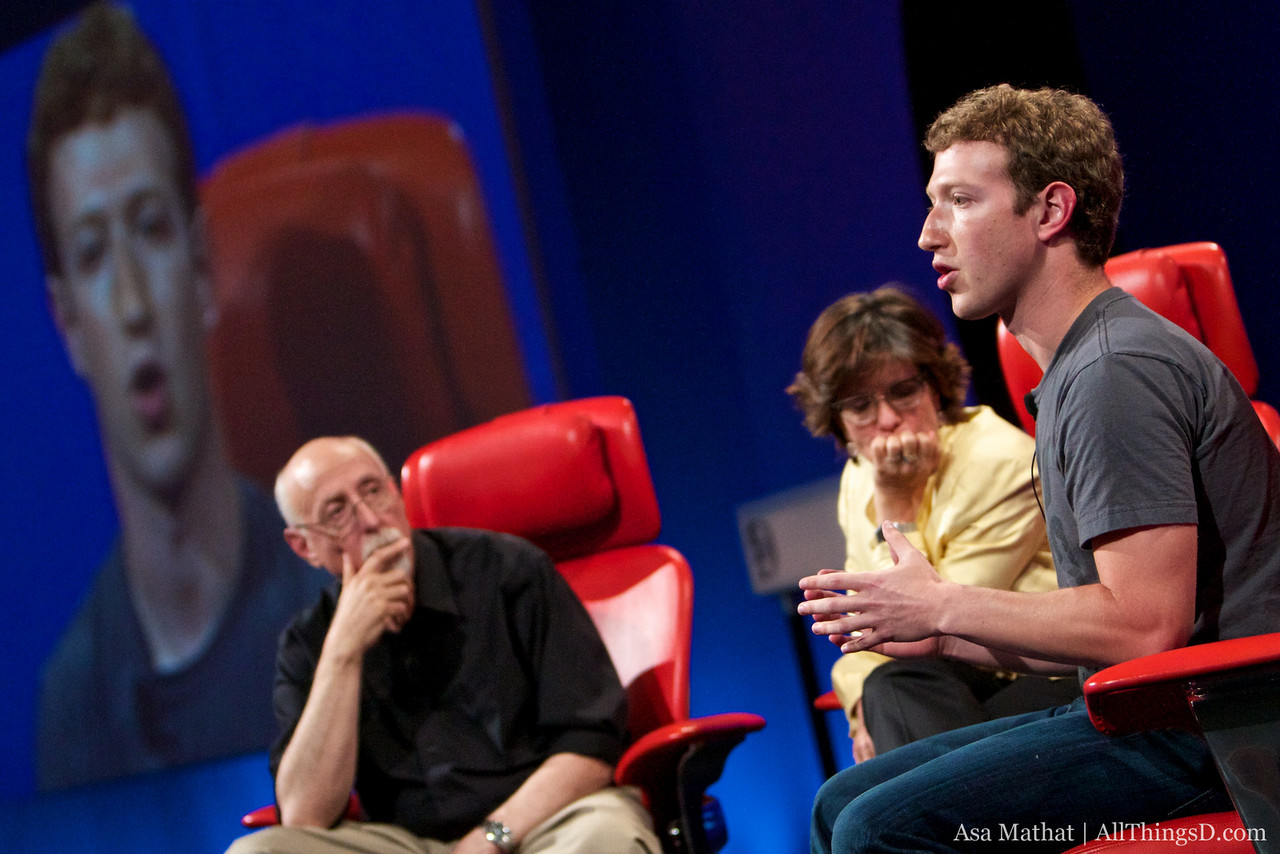 CEO of Facebook, Mark Zuckerberg, answers a question from the crowd.