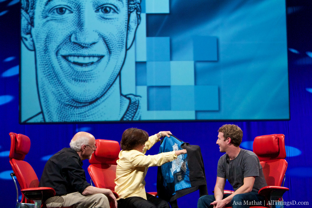 Mark Zuckerberg's omnipresent hoodie, unveiled! Complete with cult-like insignia.