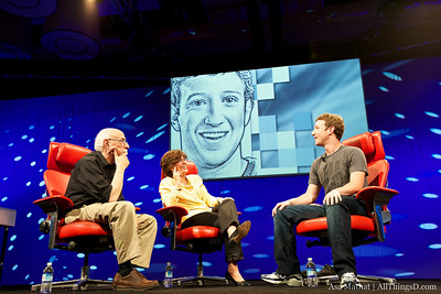 Walt Mossberg and Kara Swisher with Mark Zuckerberg of Facebook.