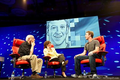Walt Mossberg and Kara Swisher with Mark Zuckerberg of Facebook.