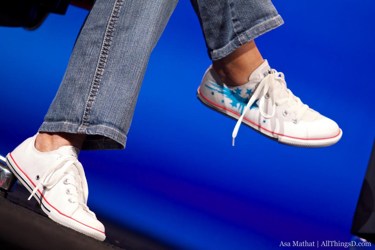 Custom Converse shoes on Kara.